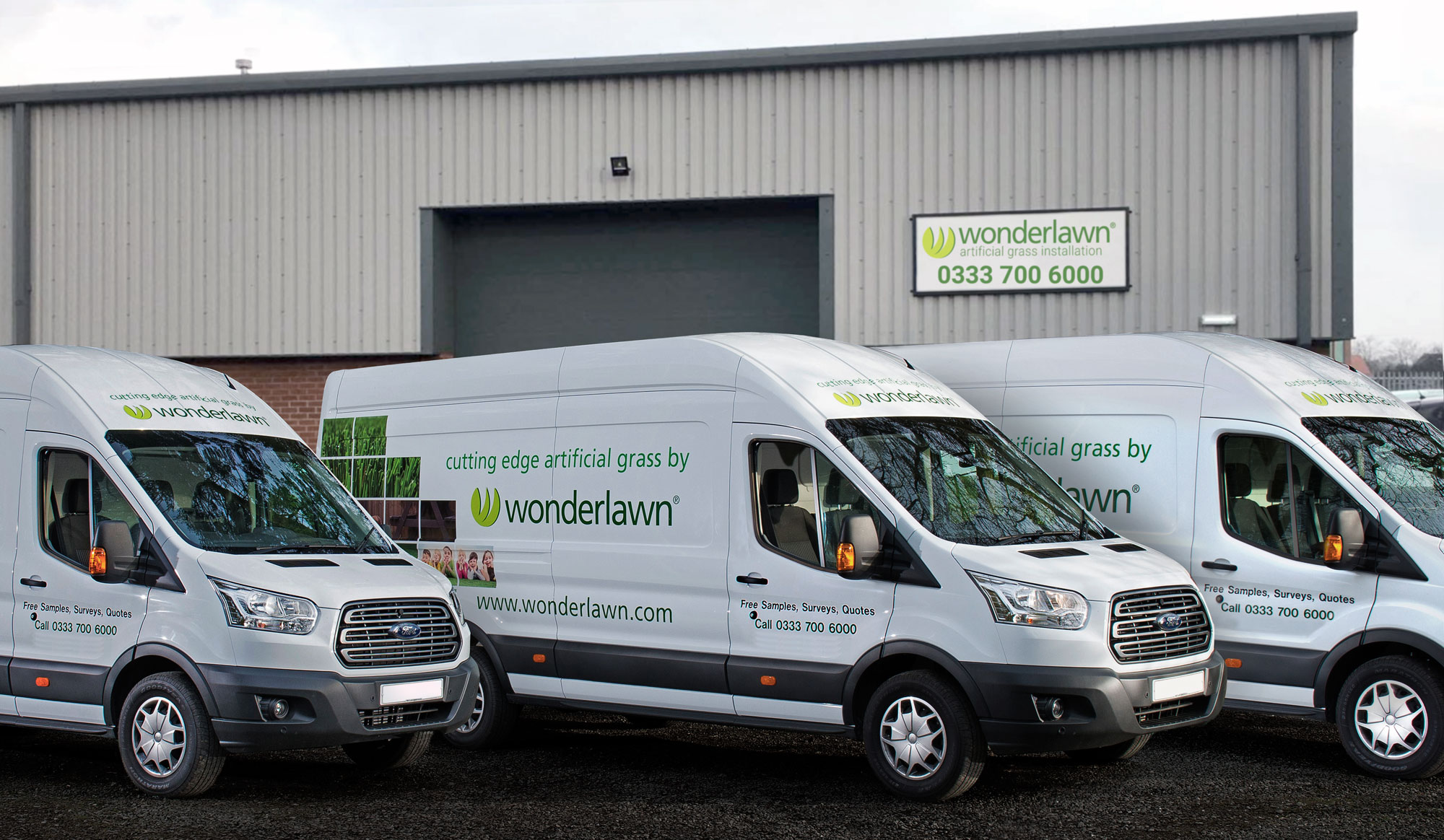 Wonderlawn franchise vans ready to deliver to franchisees