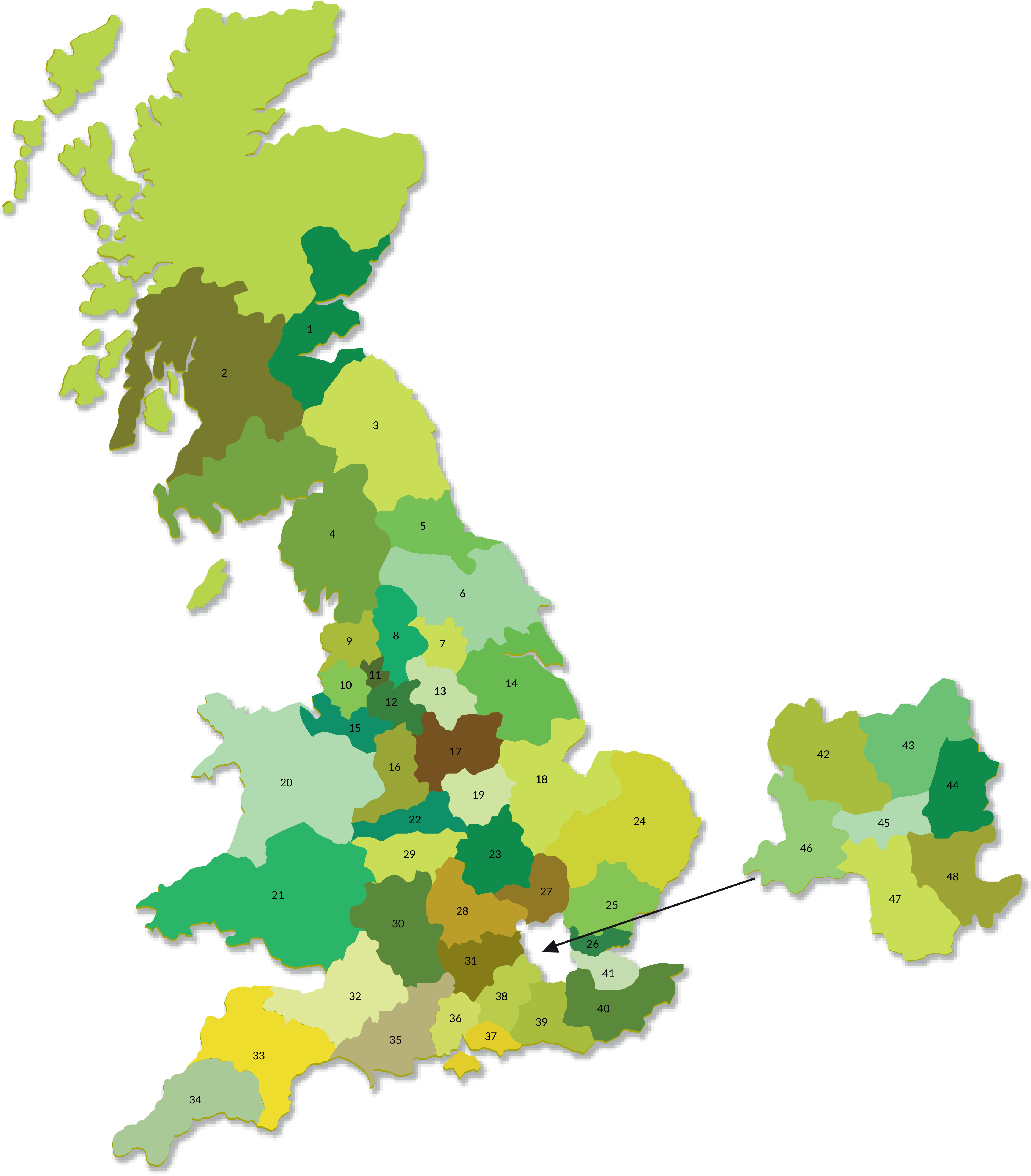 Available franchise areas in the UK